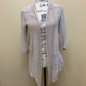 Anthro Angel of the North Knit Open Cardigan Sz M